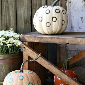 Painted Pumpkins with total eclipse design