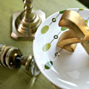 Scrumptious Serving Stands Made From Pier One Dishes And Brass Candlesticks