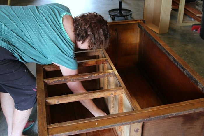 cleaning furniture inside and out