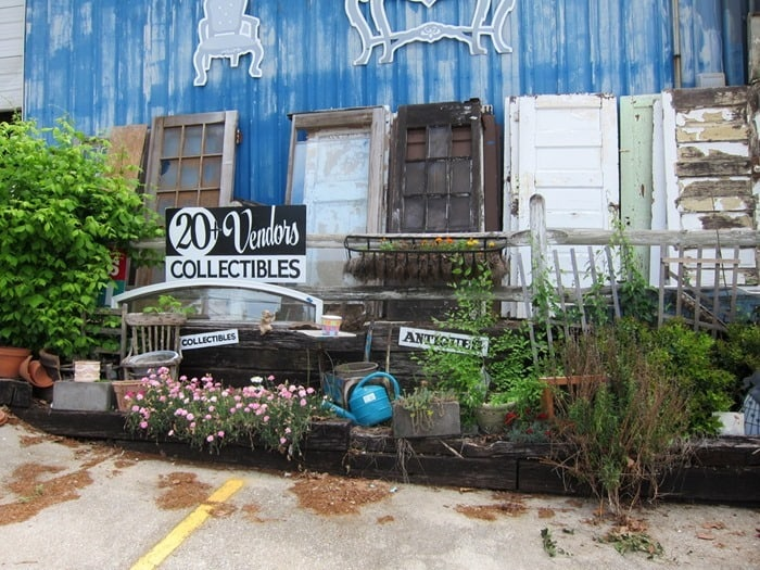 doors at The Blue Building Antiques