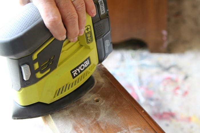 sanding furniture for painting