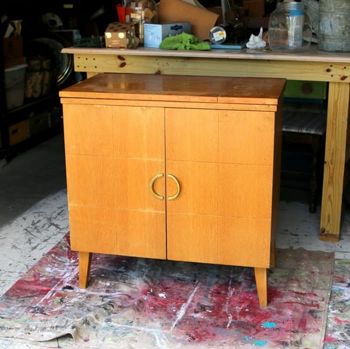 sewing cabinet before makeover