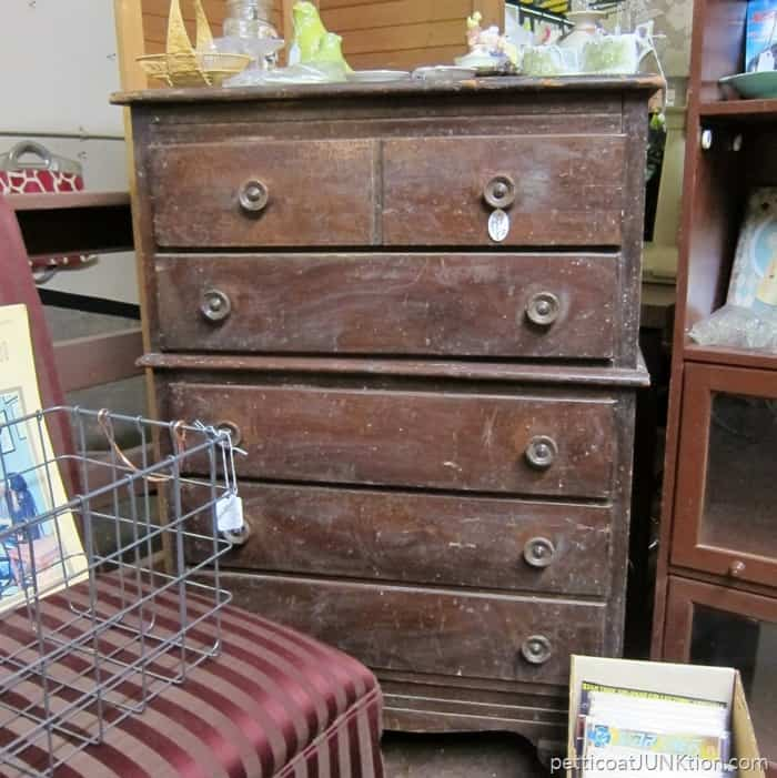 wood chest of drawers at The Blue Building Antiques