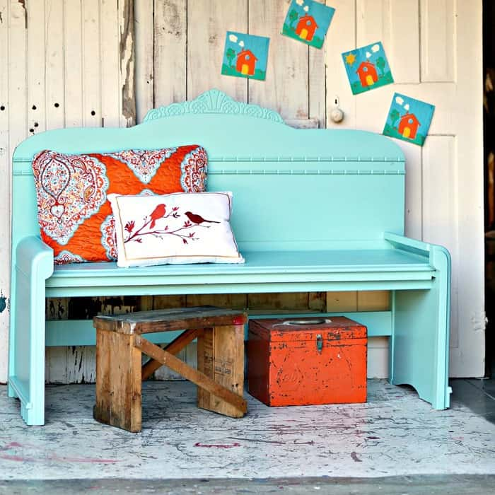 Diy Headboards Paint Colors And Living Room Paint: Wrong Paint Color For The Headboard Bench The First Time