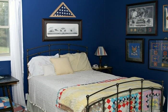 Home Tour One Room At A Time Blue Guest Bedroom 1