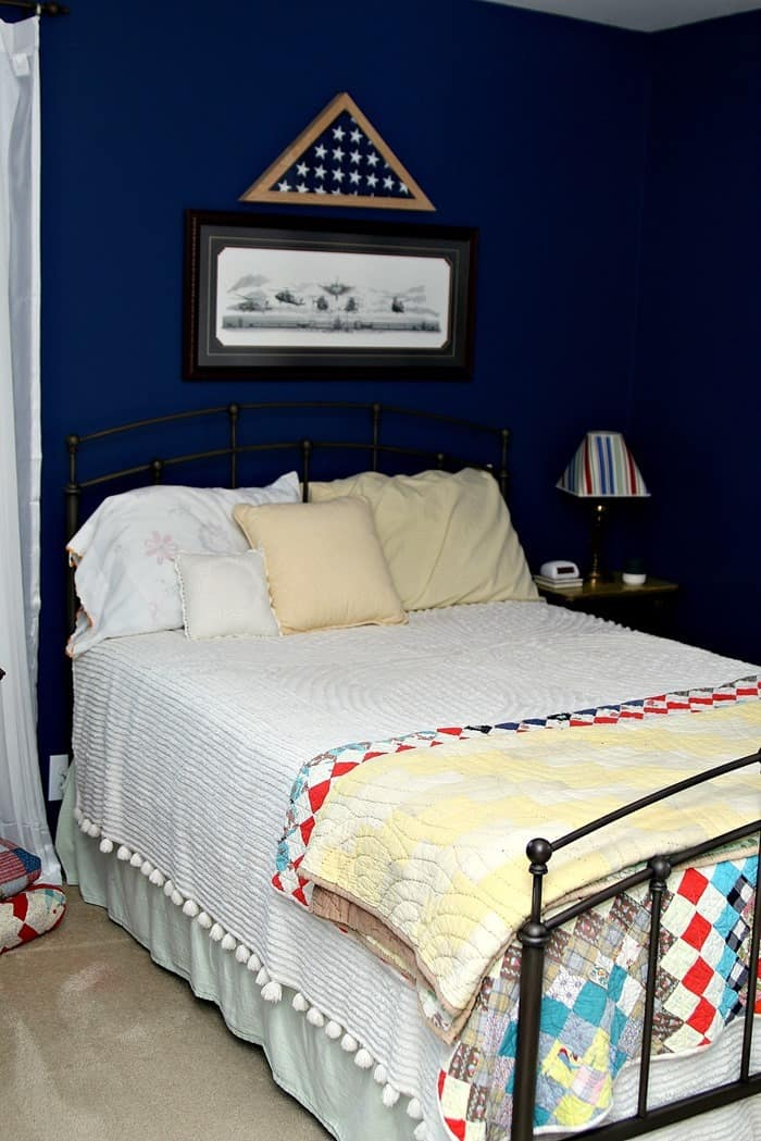 Home Tour One Room At A Time Blue Guest Bedroom