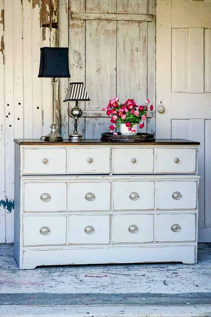 How To Distress Already Painted Furniture