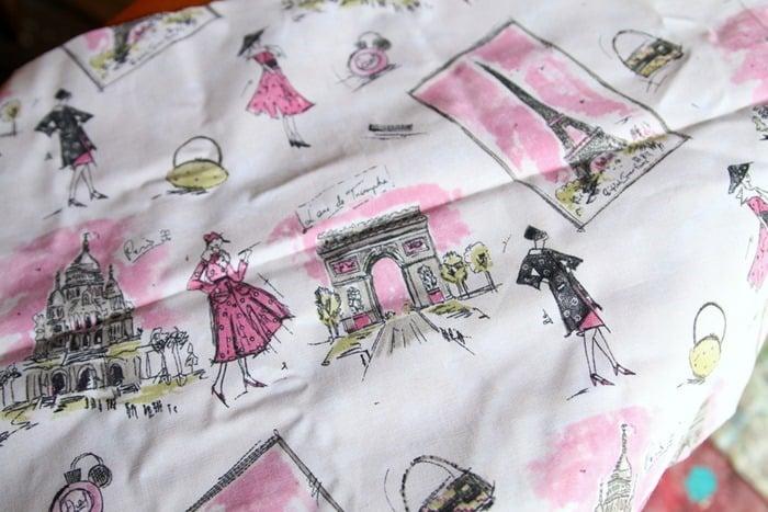 Paris themed fabric design