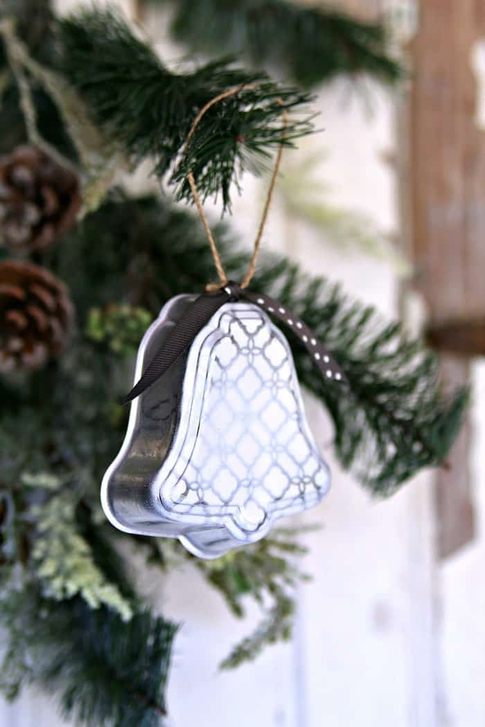 Silver Bell Christmas Ornaments Handmade With Love