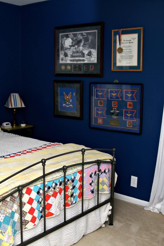 Tour Our Home One Room At A Time Blue Guest Bedroom