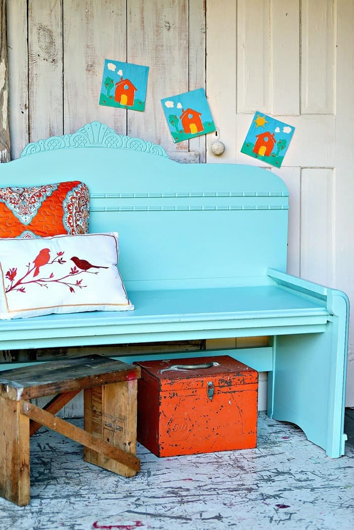 Wrong Paint Color For The Headboard Bench