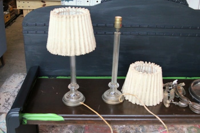 antique lamps and lace shades