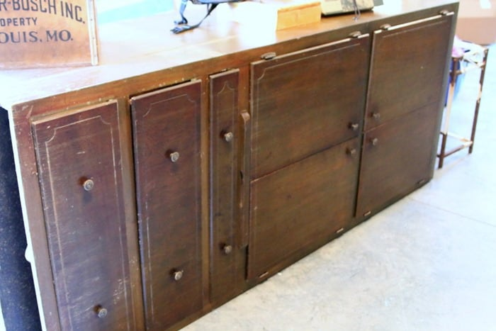 Auction Cabinet and Thrift Store Antique Store Finds
