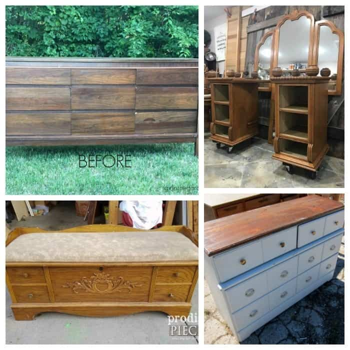 before collage furniture fixer uppers October