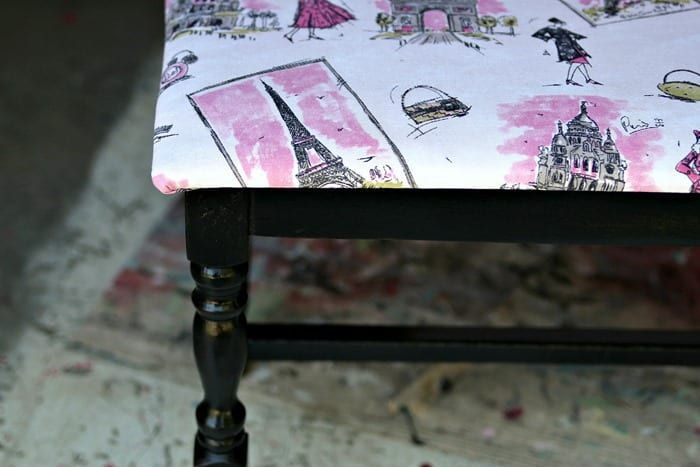 black and pink painted furniture