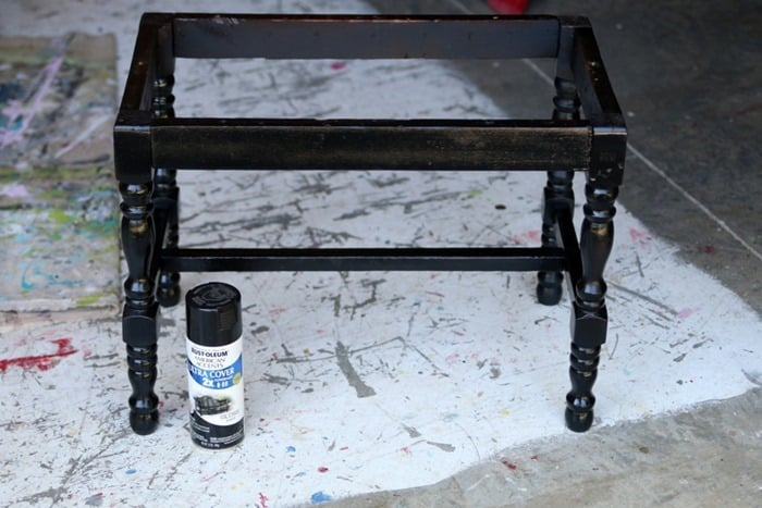 black spray paint for furniture