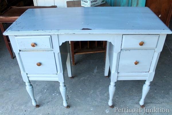 blue dresser before