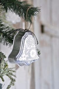Silver Bell Christmas Ornaments