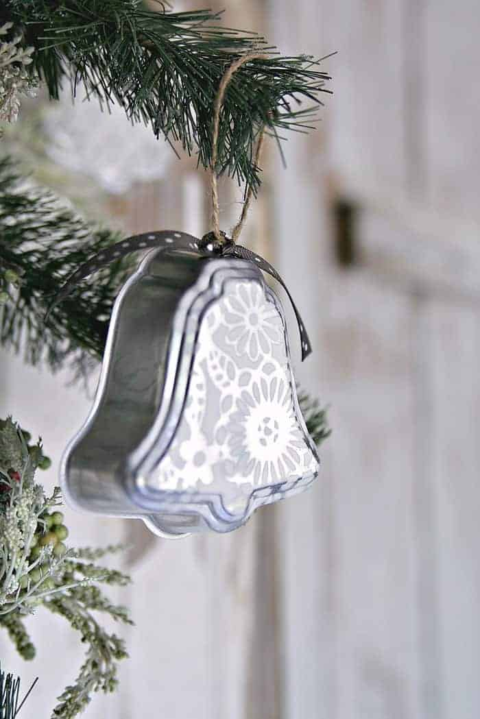 handmade Silver Bell Ornaments