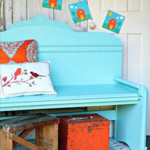 how to make a bench using a headboard and footboard