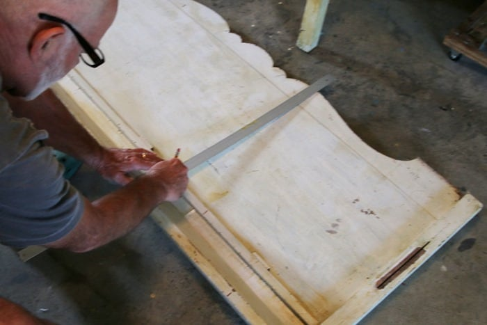 measure and cut foot board
