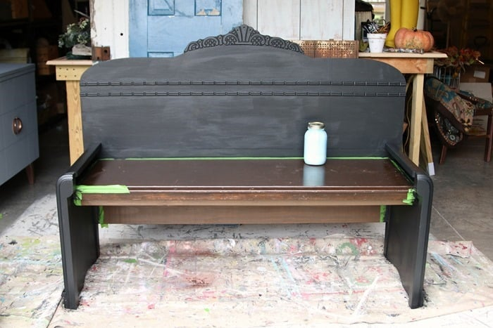 painting a headboard bench