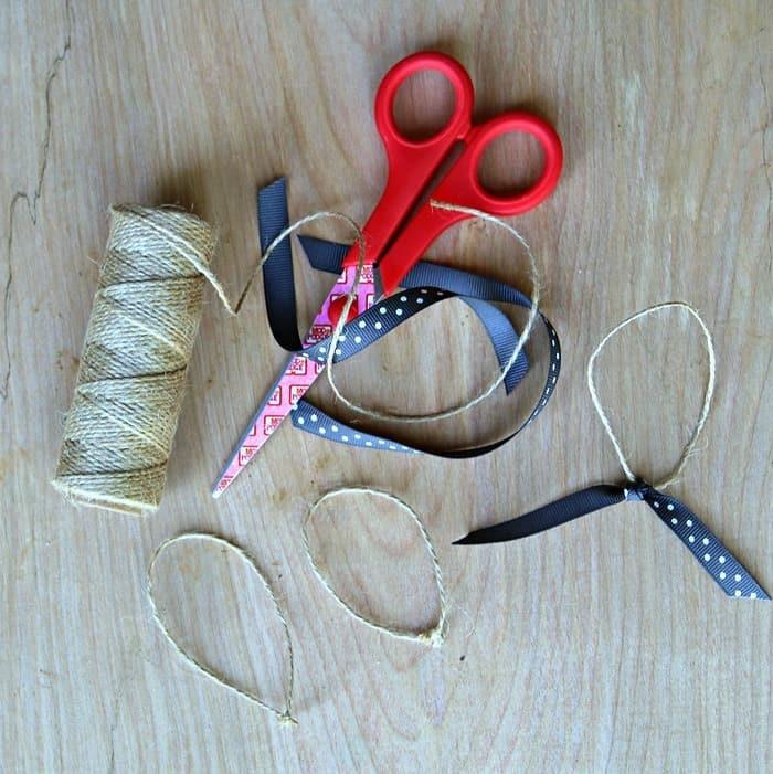 supplies for handmade Christmas ornaments