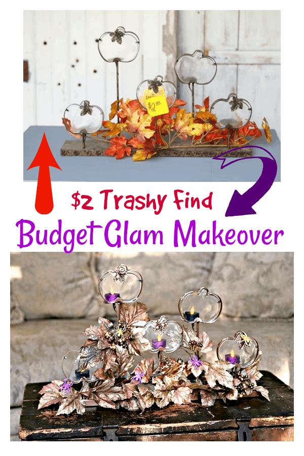 Copper Spray Paint Candleholder Centerpiece Makeover