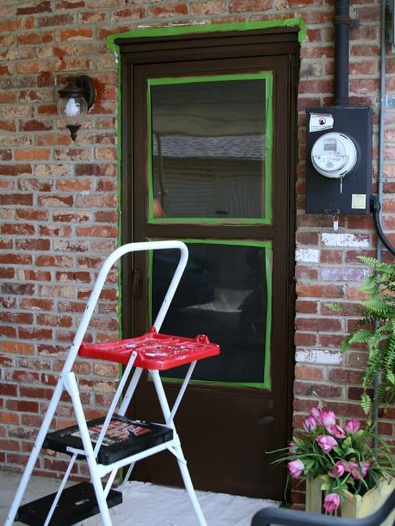 paint exterior metal door