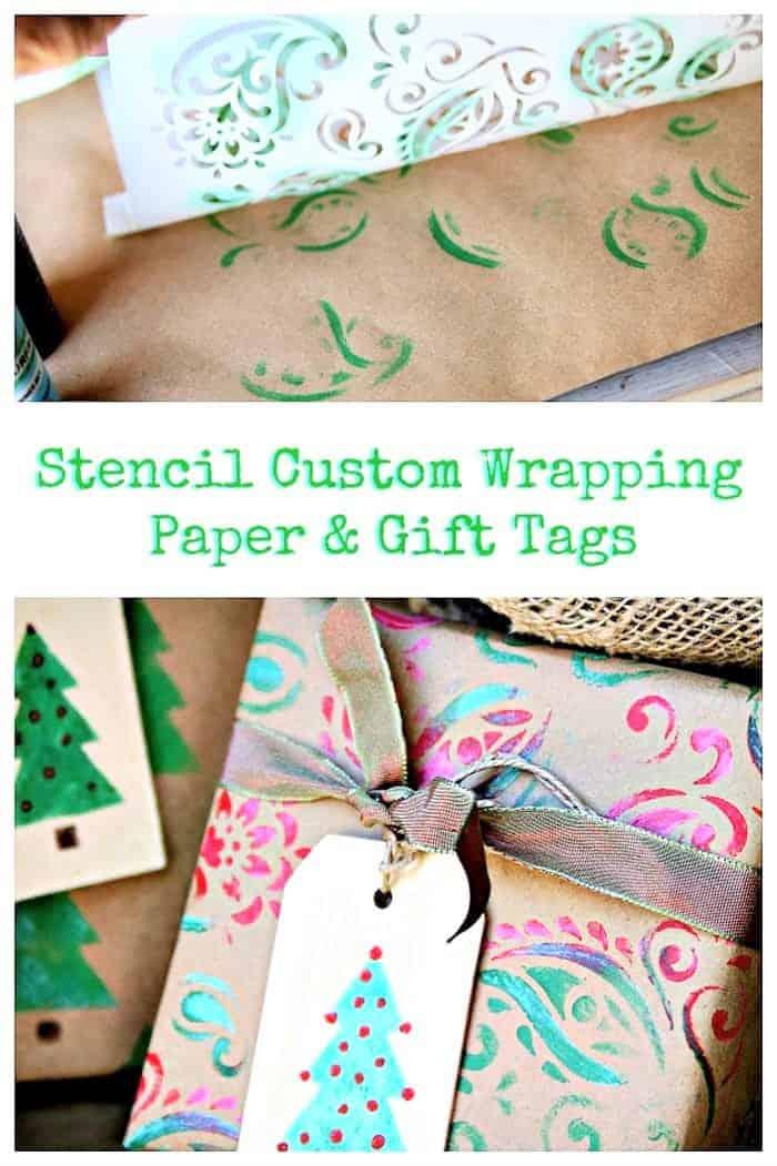 DIY Christmas Wrapping Paper & Christmas Gift Tags