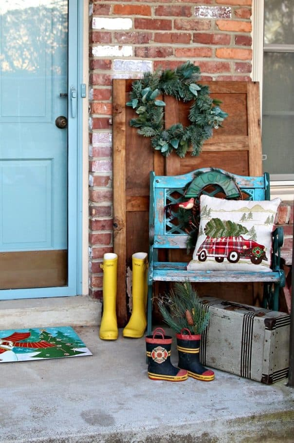 Christmas decorating ideas for the porch