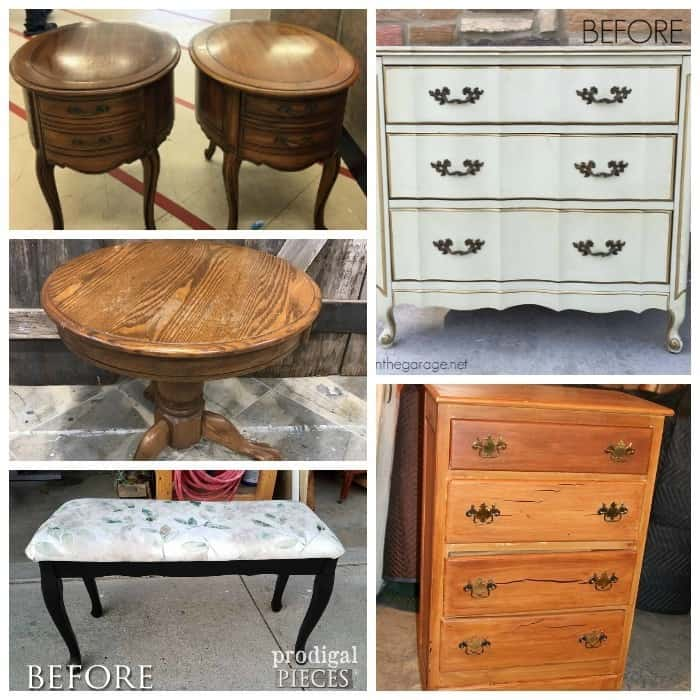Furniture Fixer Uppers before project makeover
