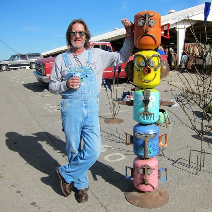 Jimbo Bradley from Bradley Metalworks vendor at the Nashville Flea Market