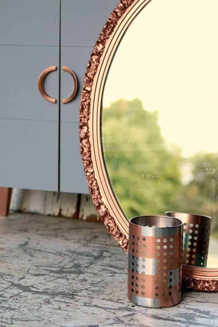 Metallic Copper Spray Paint for home decor