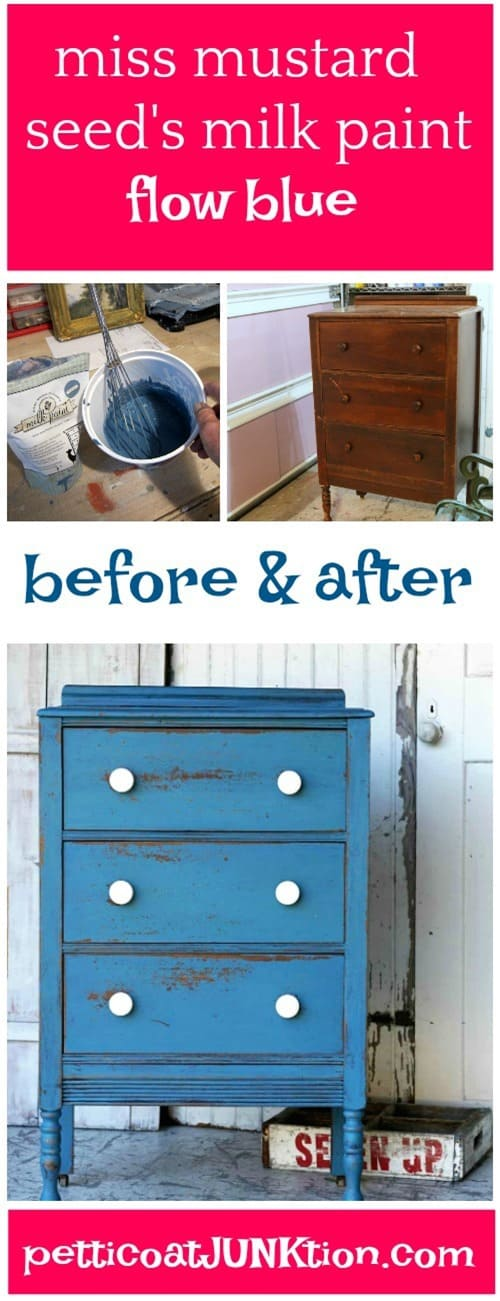 Miss Mustard Seeds Milk Paint project color Flow Blue