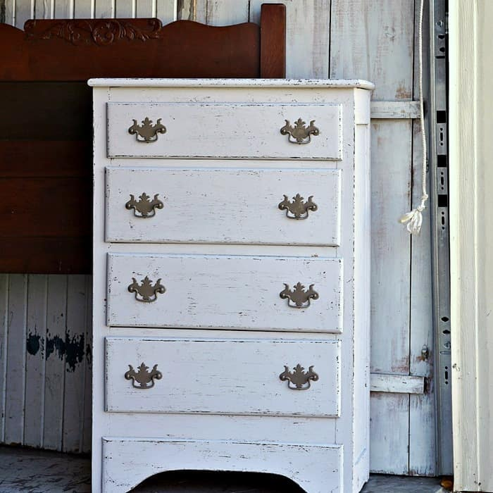How To Paint Cheap Furniture And Distress The Paint Too