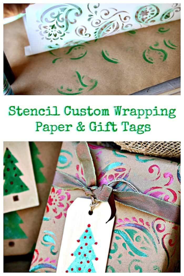 Stencil custom Wrapping Paper And Gift Tags