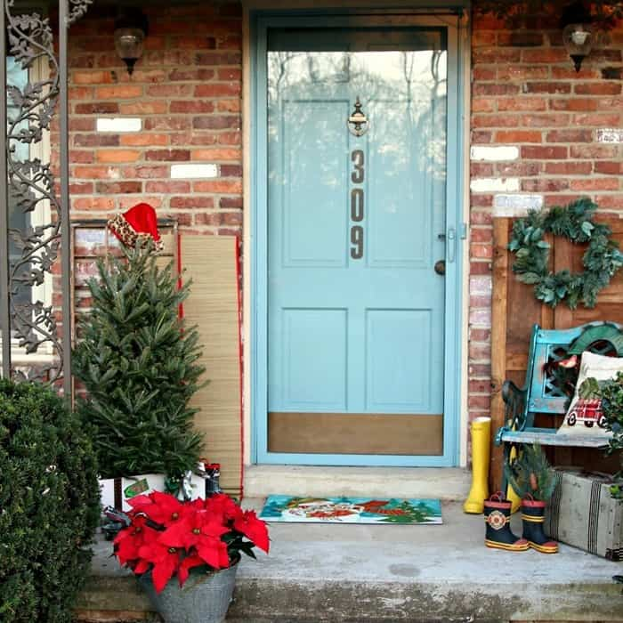 front porch decorating ideas for Christmas