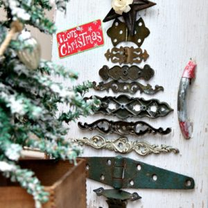 DIY Christmas Tree from Vintage Hardware