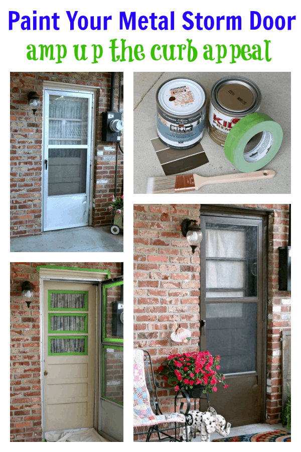 paint your metal exterior storm door