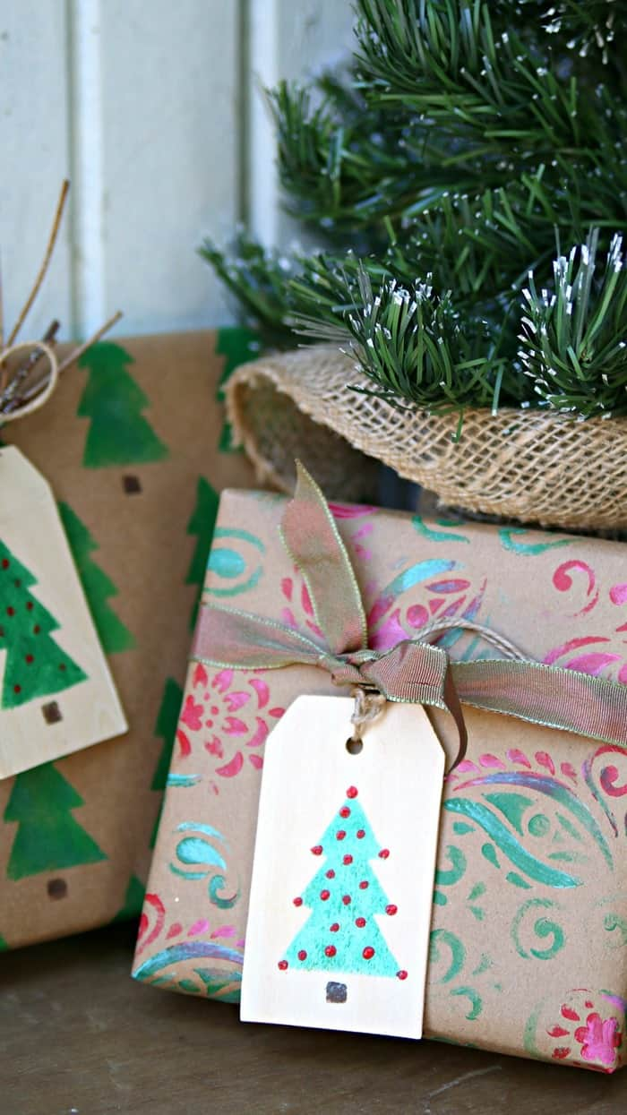 pretty gift wrapping paper
