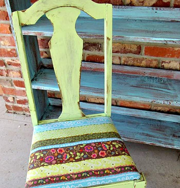 recover a chair seat with a skirt