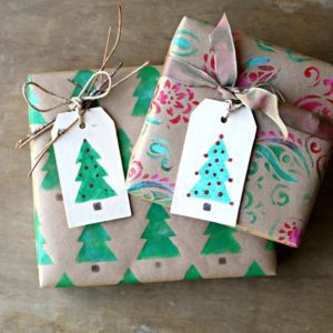 diy gift tags and wrapping paper