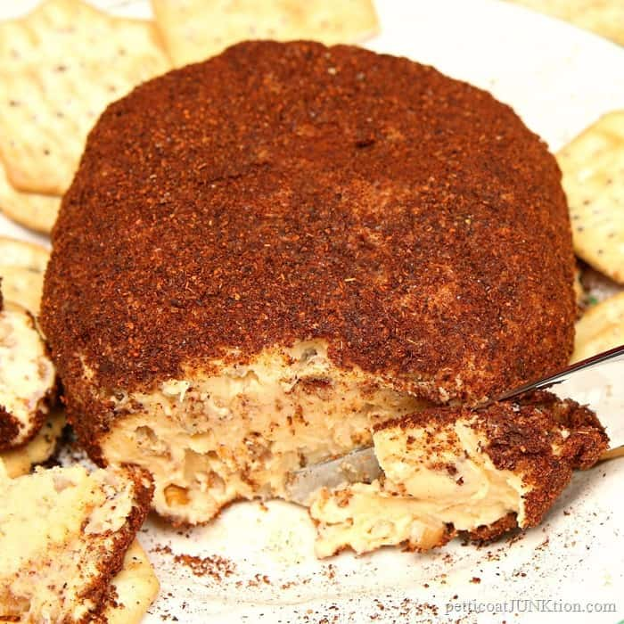 Chili Powder Pecan Cheese Ball Family Favorite