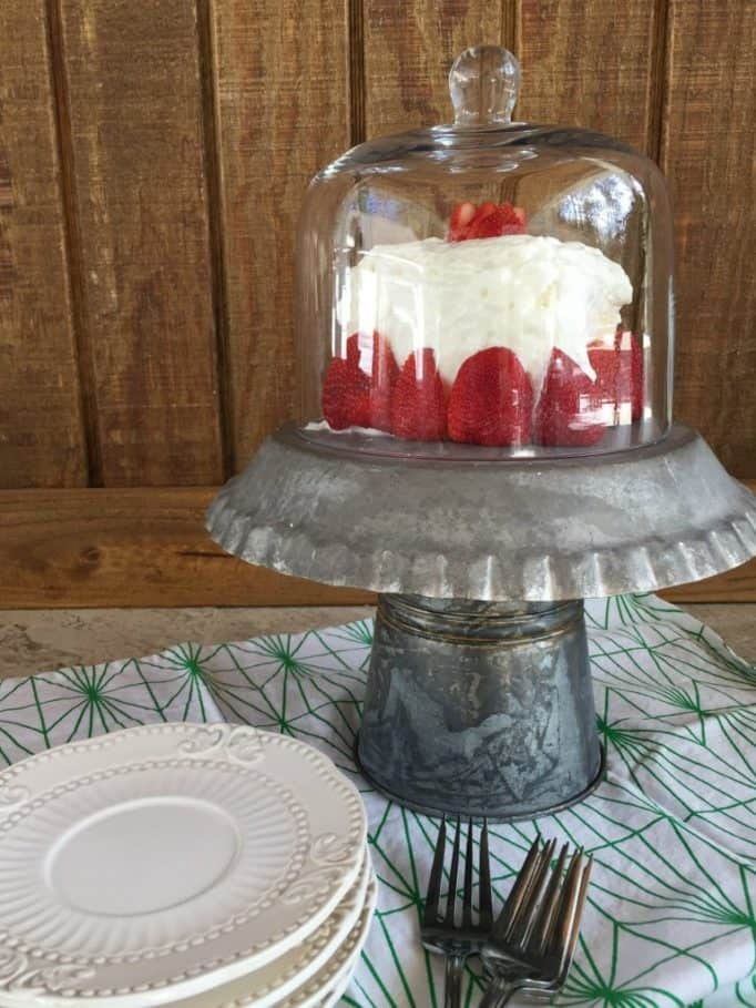 Trash to Treasure Makeovers - DIY Galvanized Cake Stand
