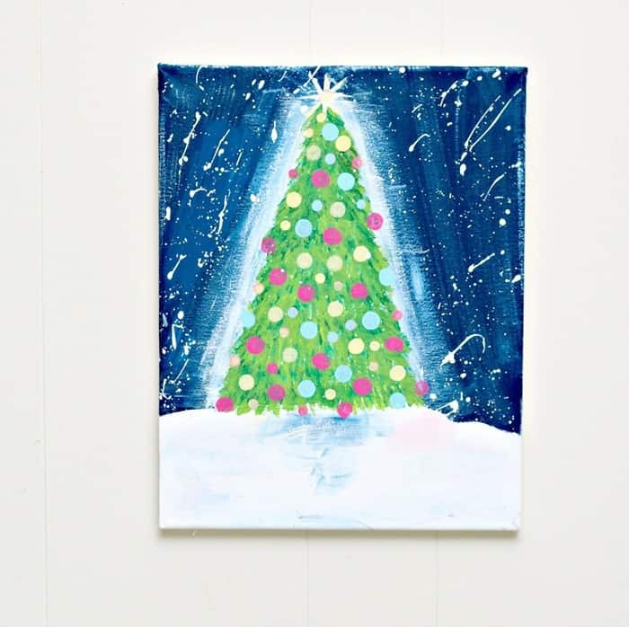 Paint with Plaid Christmas Tree painting Petticoat Junktion