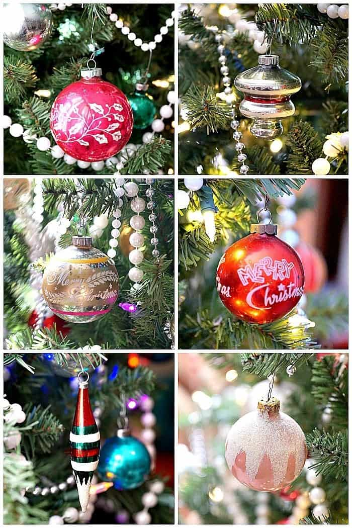 Shiny Brite Christmas ornaments and other vintage glass ornaments