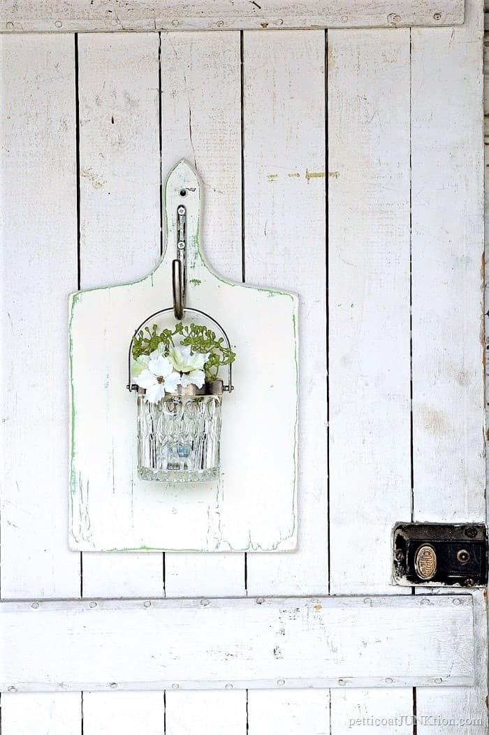 diy hanging glass wall vase