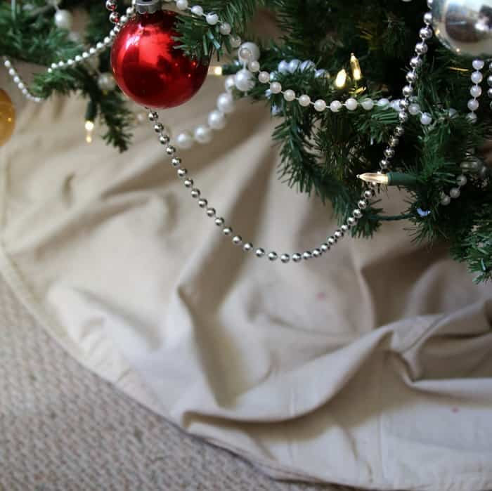 drop cloth tree skirt