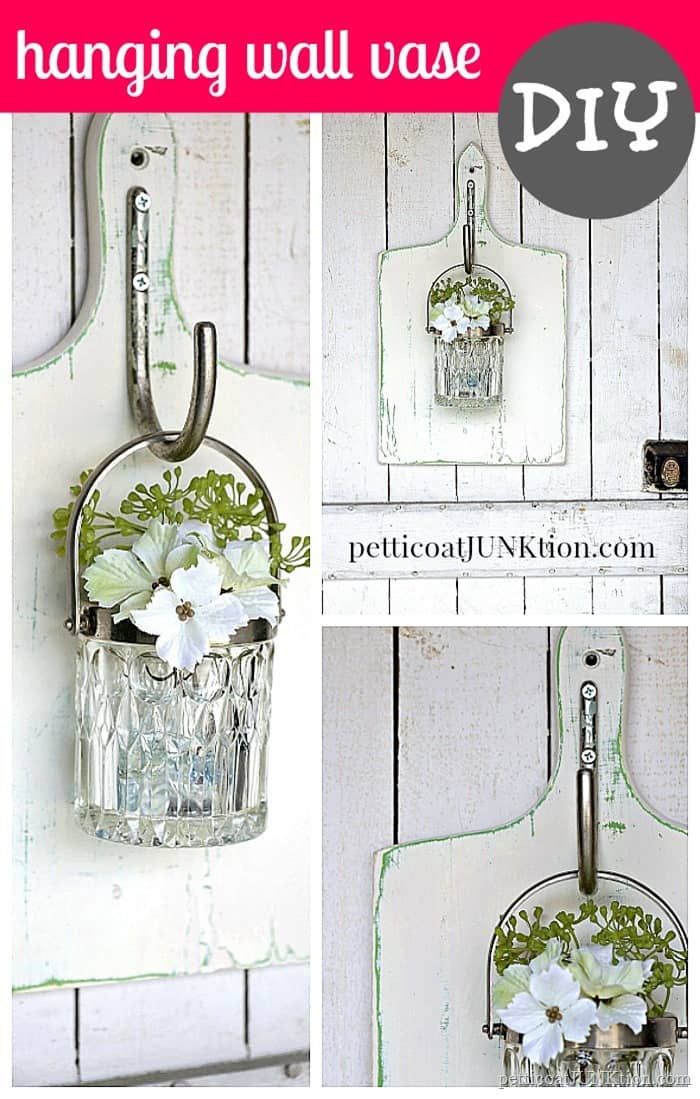 Glass Wall Vase On The Cheap - Petticoat Junktion